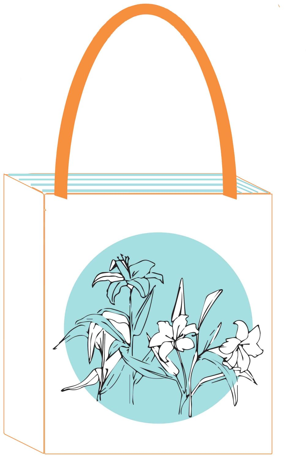 Flowers 4 white and blue spot AG bag.