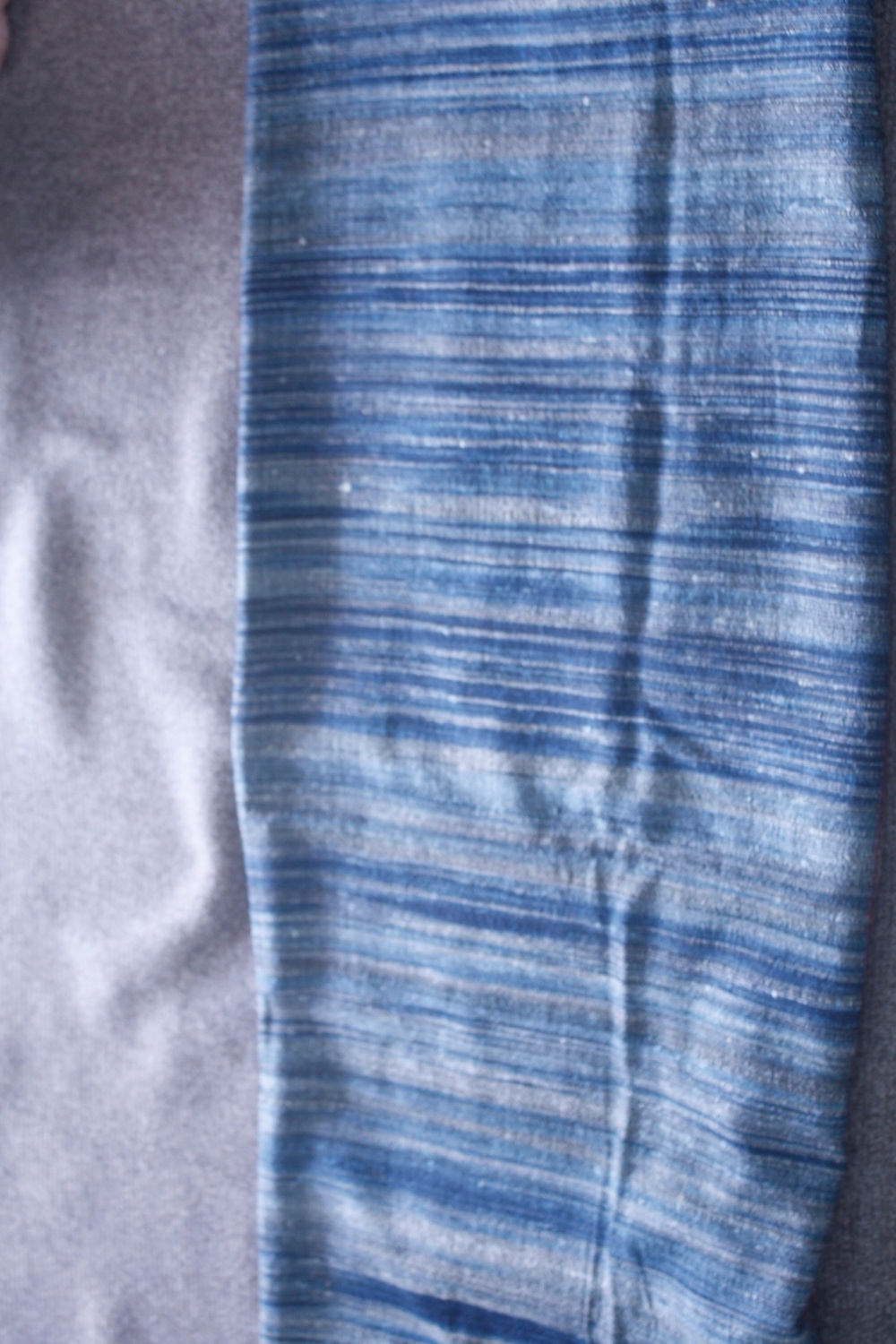 Indigo Striper Wool Silk
