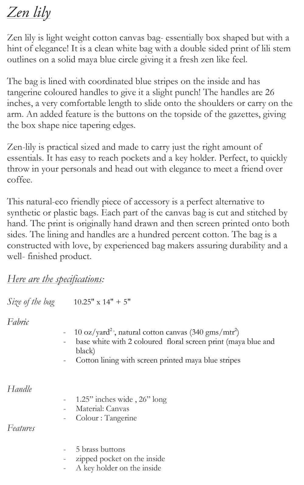 Microsoft Word - Zen lily.docx